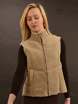 Higgs Leathers SAVE £100!  Gella (ladies Shearling Gilets)
