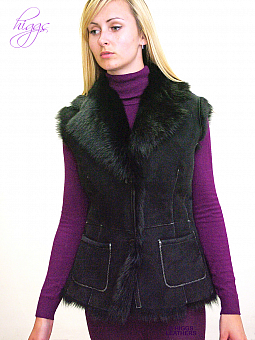 Higgs Leathers HALF PRICE!  Gelray (ladies Black Toscana gilet)
