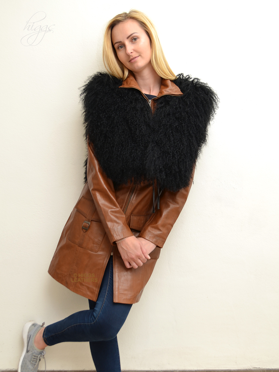 Higgs Leathers {}  Omega (ladies Black Lambskin gilets) Wonderful value!