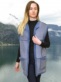 Higgs Leathers ALL SOLD! UNDER HALF PRICE SAVE £146!  Veronica  (ladies Blue Sheeps