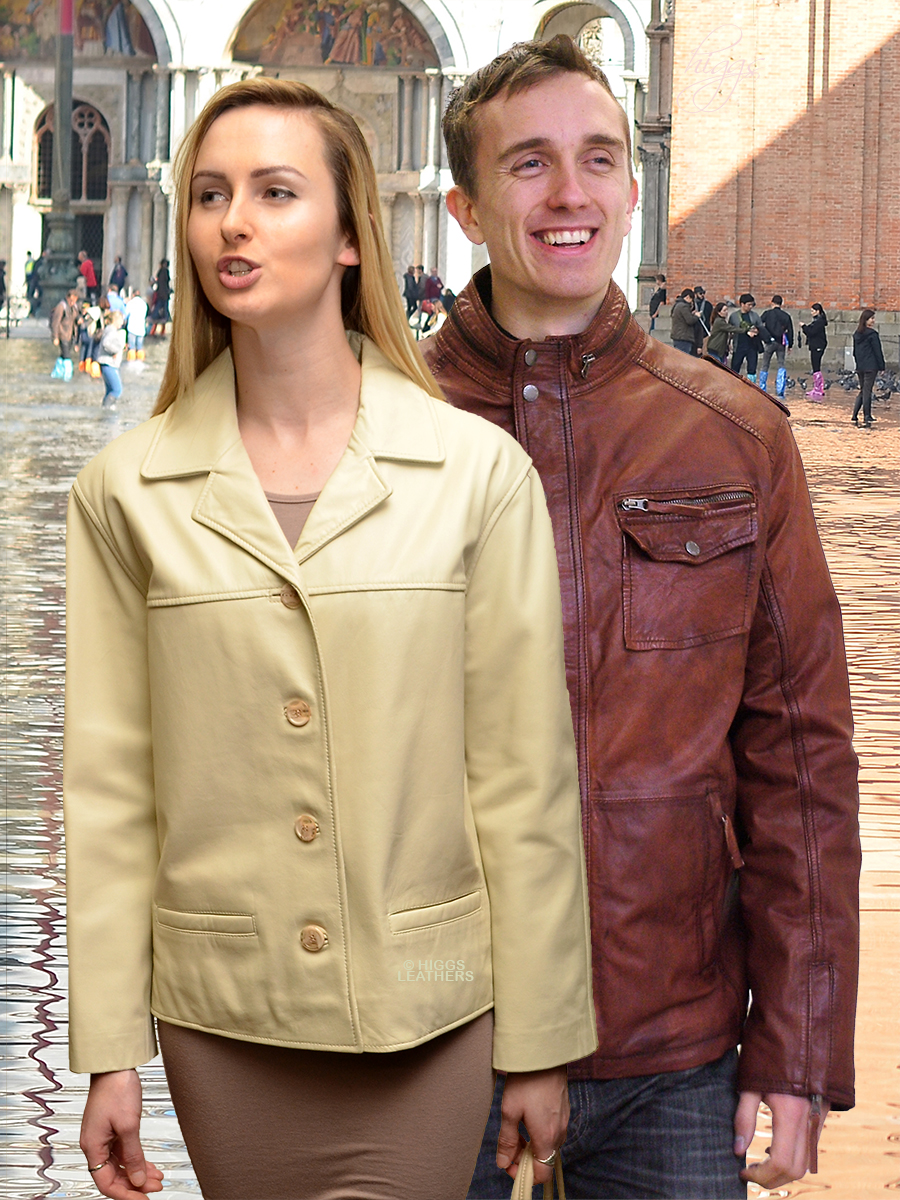 Higgs Leathers LAST FEW - SAVE £50! Jenny (ladies short Nappa leather jackets)