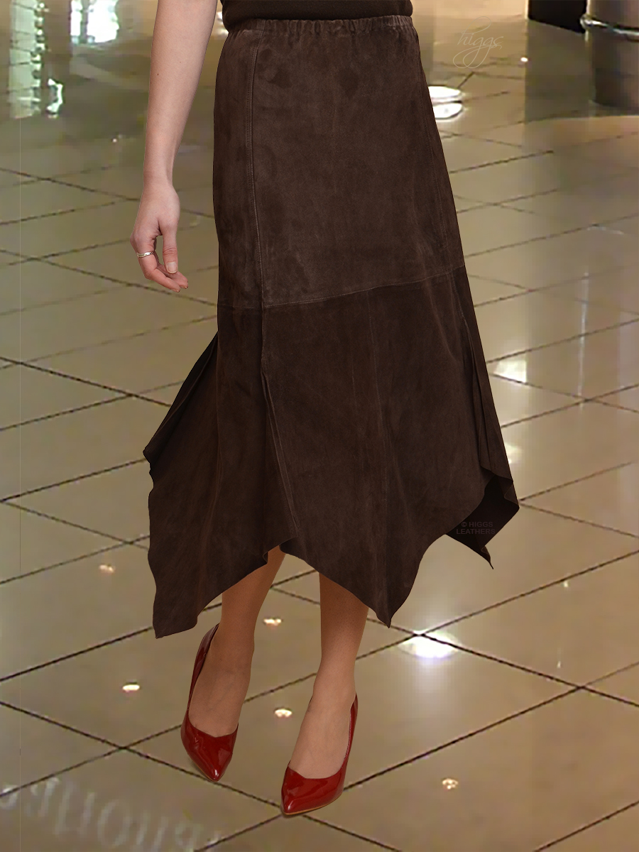 Higgs Leathers {LAST ONE HALF PRICE!}  Amanda (elasticated waist Kid Suede skirts) Soooooooooo soft!