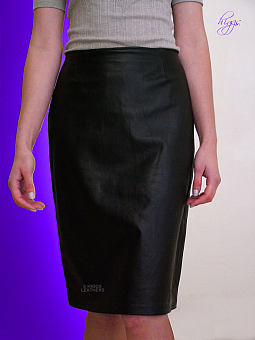 Higgs Leathers NEW!  Penny (ladies Black Leather Pencil skirts)
