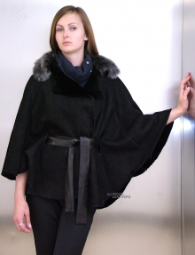 Higgs Leathers ONE ONLY SAVE £250! Marianne (ladies Designer Shearling cape jackets)