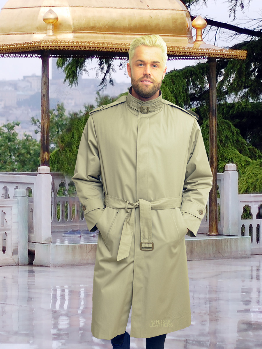 Higgs Leathers {SOLD - SAVE £430!}  Nahum (One Off men's Designer Raincoat) Higgs Limited Edition!