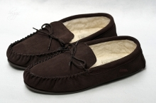 Higgs Leathers NEW STOCK!  Morley (mens wool lined slippers)
