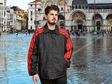 Higgs Leathers FEW ONLY!  Wincanton (men's Black windcheater showerproof jackets)