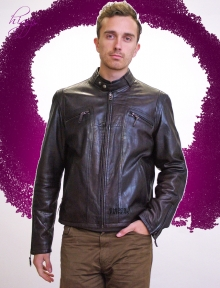 Higgs Leathers NEW!  Alturo (men's Brown Leather Biker jacket)
