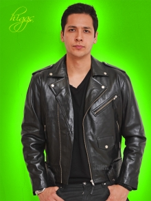 Higgs Leathers NEW STOCK!  Brandex (men's Black Leather Biker jackets)
