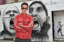 Higgs Leathers FEW ONLY!  Buzz (men's Red Leather Biker jackets)