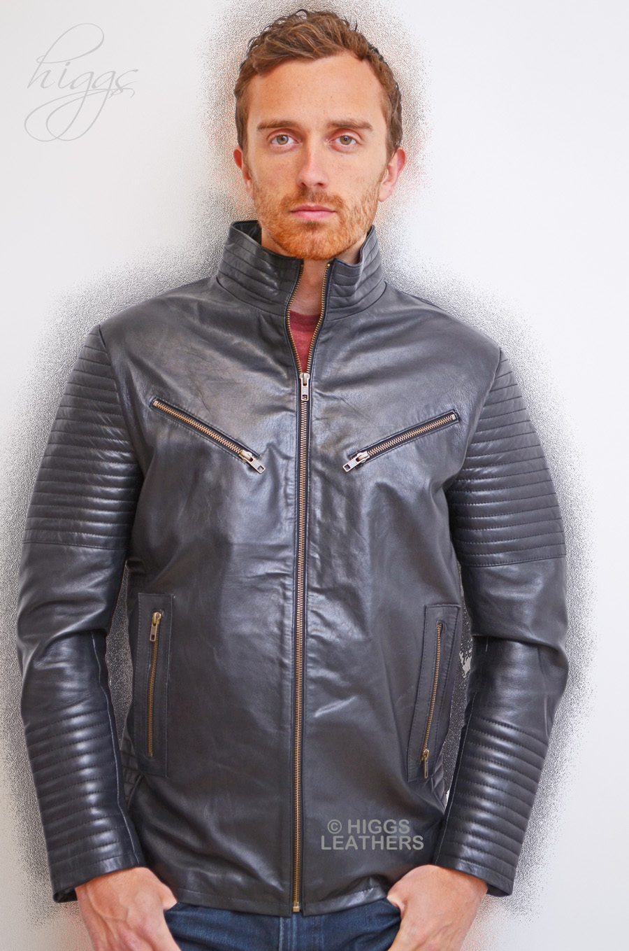 Higgs Leathers {NEW!}  Paddy (men's Black Leather Biker jackets) LIMITED OFFER - WHILE STOCKS LAST!