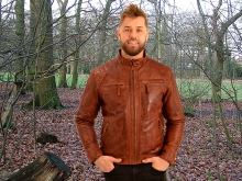 Higgs Leathers LAST FEW - SAVE £40!  Sergei (men's Budget Leather Bikers jackets)