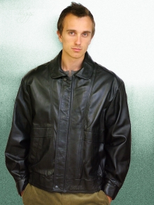 Higgs Leathers Kurt (men's Black Leather Blouson jackets)