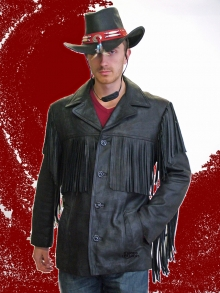 Higgs Leathers NEW!  Wyatt (men's fringed leather Cowboy jackets)