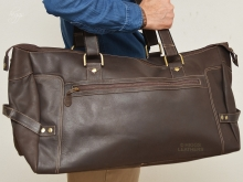 Higgs Leathers HALF PRICE!  Lincoln (waxy Brown Leather travel bags)