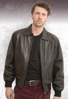 Higgs Leathers ALL SOLD! (black leather bomber jackets for men)