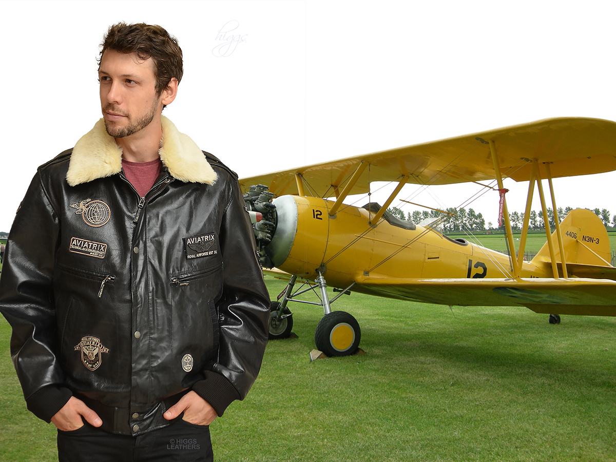 Higgs Leathers {FEW ONLY!}   Marauder (men's BlackLeather Flying jackets)