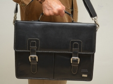 Higgs Leathers ALL SOLD!  Goodwood (superb Black Leather Briefcase)