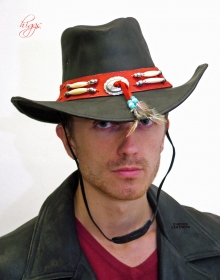 Higgs Leathers ALL SOLD! Arizona (men's leather Cowboy hats)
