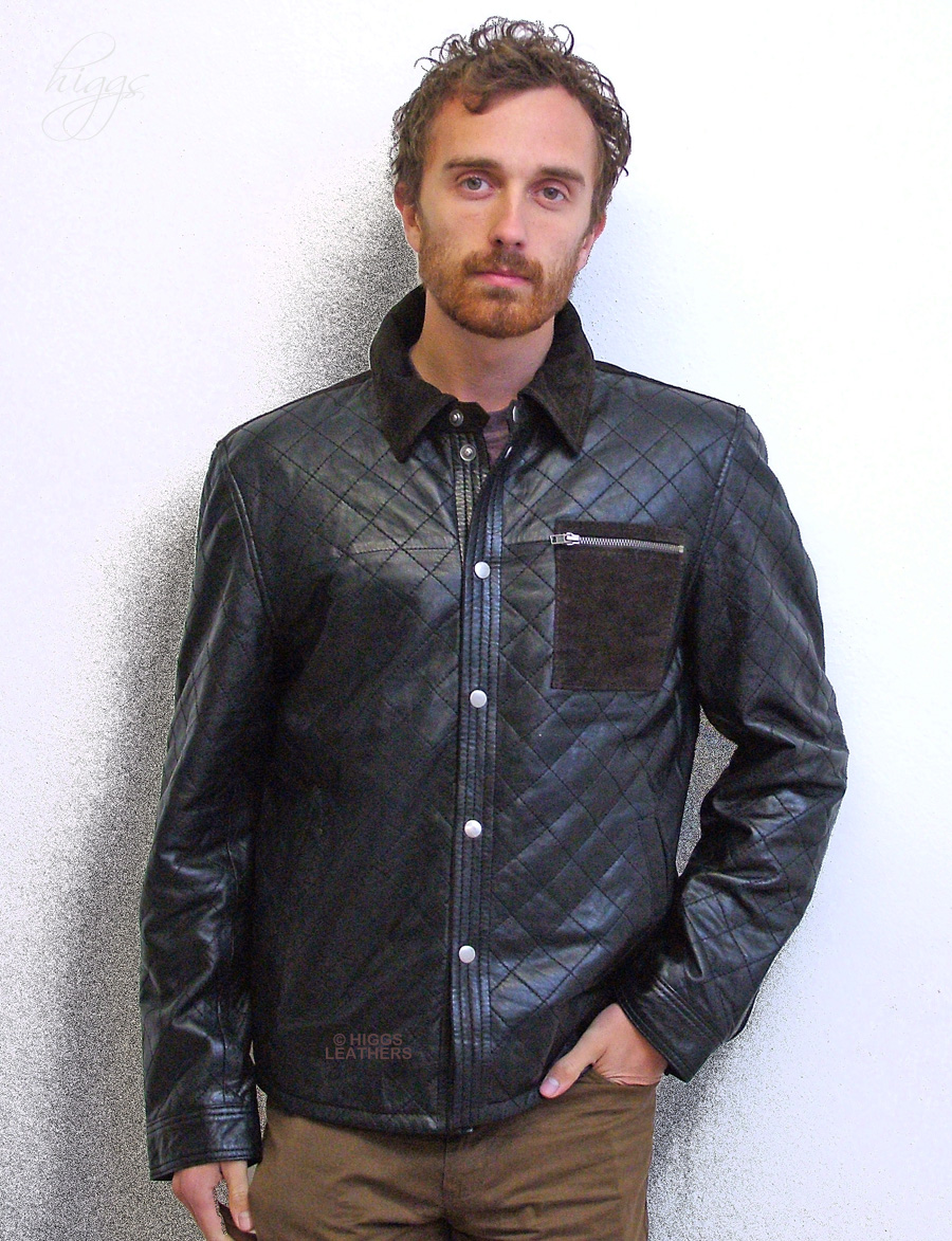 Higgs Leathers {LAST FEW!}  Andy (mens Designer Leather jackets) From our selection of men's Designer Leather jackets!
