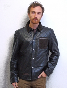 Higgs Leathers NEW!  Andy (mens Designer Leather jackets)