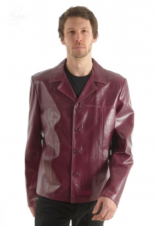 Higgs Leathers SOLD!UNDER HALF PRICE!  Rainer (man's Burgundy Leather jacket)