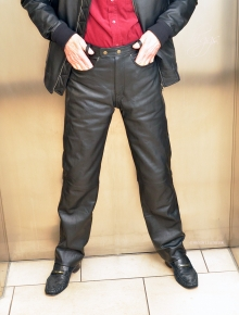 Higgs Leathers ALL SOLD!  Lonnie (men's Black Leather Jeans)