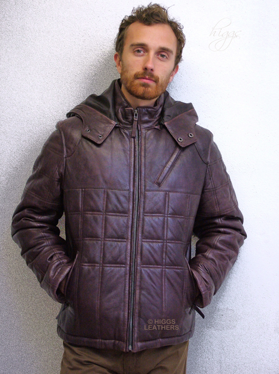 Higgs Leathers {LAST ONE!}  Purdom (men's leather Puffa jackets)