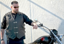Higgs Leathers ALL SOLD! Rebel (men's metal buckle Leather Buckle vests)