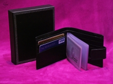 Higgs Leathers ALL SOLD!  Porchester (black leather credit card holder wallets)