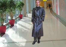 Higgs Leathers LAST FEW!  Blake (Black Leather Trench coats for men)