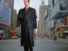 Higgs Leathers LAST FEW!  Cypher (mens matrix leather cape coats)