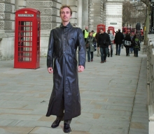 Higgs Leathers NEW STOCK! Neo (extra long Black Leather coats for men)
