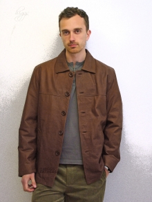 Higgs Leathers Bernie (men's Tan waxy leather jackets)