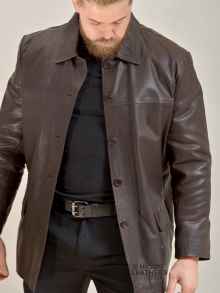 Higgs Leathers HALF PRICE SAVE £100!  Boyden (men's Box style Brown Leather jacket)