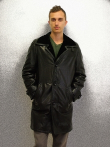 Higgs Leathers LAST FEW! Ludo (Men's special quality Shearling lined Leather 3/4 coat)