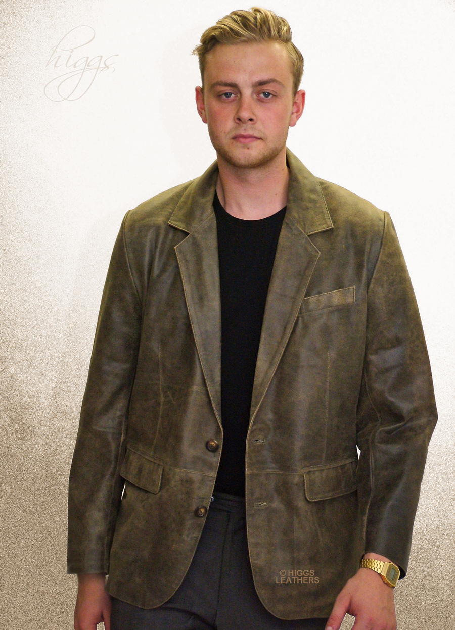 Miles (retro style mens leather jackets) B-6064 online at UK shop