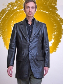 Higgs Leathers NEW!  Milos (men's extra long Leather Blazer jackets)