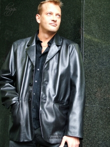 Higgs Leathers NEW PICTURE!  Robbie (Men's Retro Leather Blazer jackets)