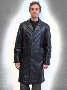 Higgs Leathers LAST ONE! Terry  (men's fitted Black Leather coats)