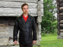 Higgs Leathers NEW!  Theodore (men's Black leather Safari jackets)