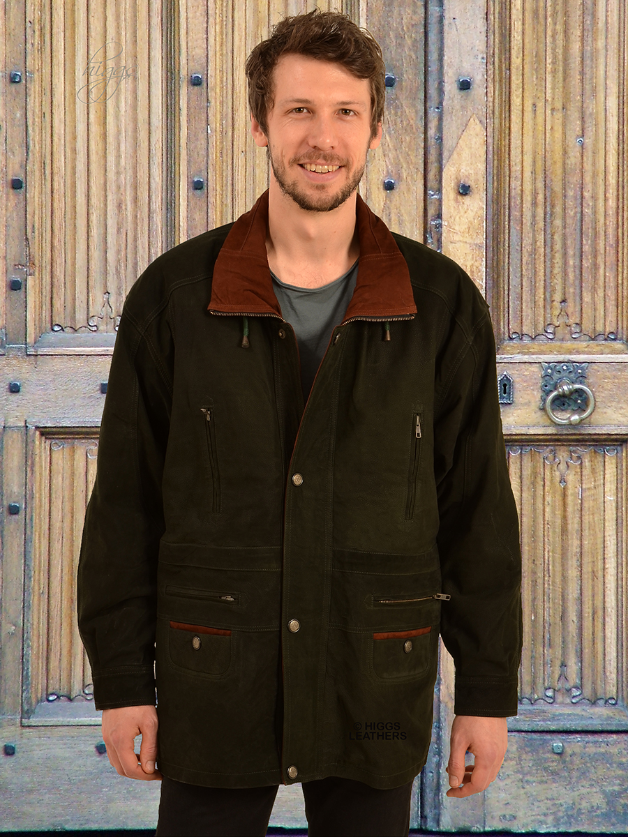 Higgs Leathers {LAST FEW !}  Yates (two tone Nubuck Leather Parka coats) NOW UP TO 56' CHEST!