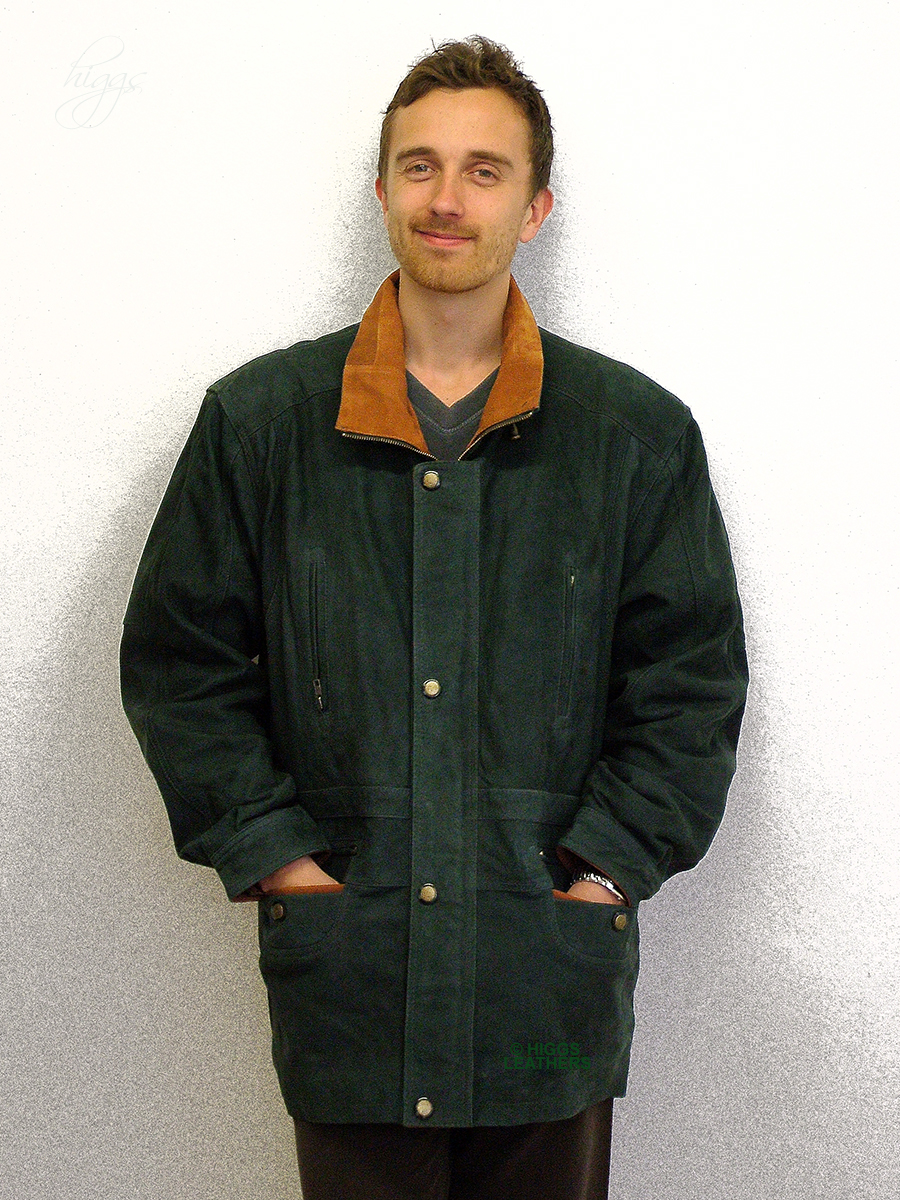 Higgs Leathers {FEW ONLY SAVE £60!}  Yates (two tone Nubuck Leather Parka coats) NOW UP TO 56' CHEST!