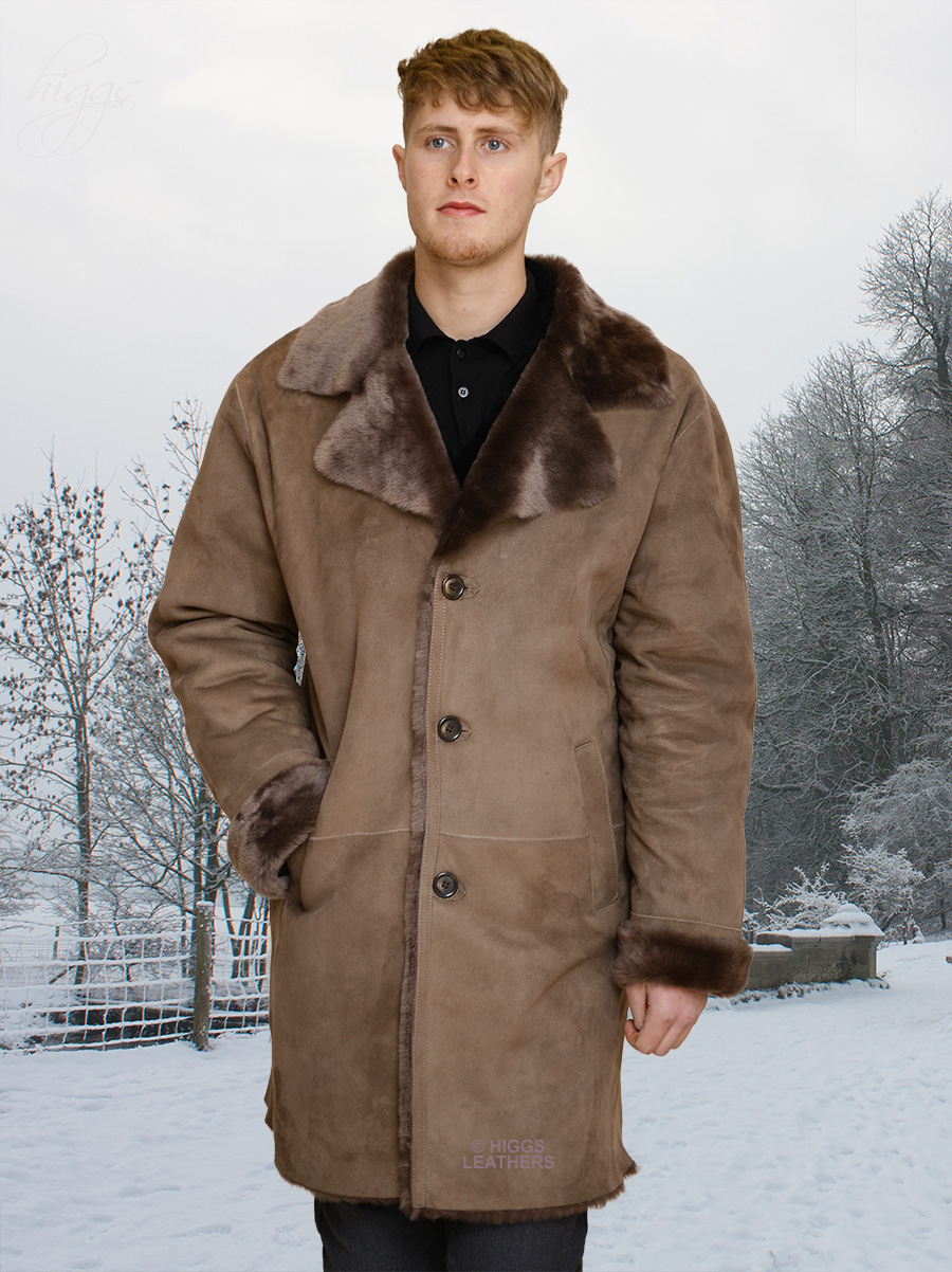 Higgs Leathers {SAVE £300!}  Alexandras (mens lightweight Merino Lambskin coats) ULTRA LIGHT WEIGHT MERINO LAMBSKIN!