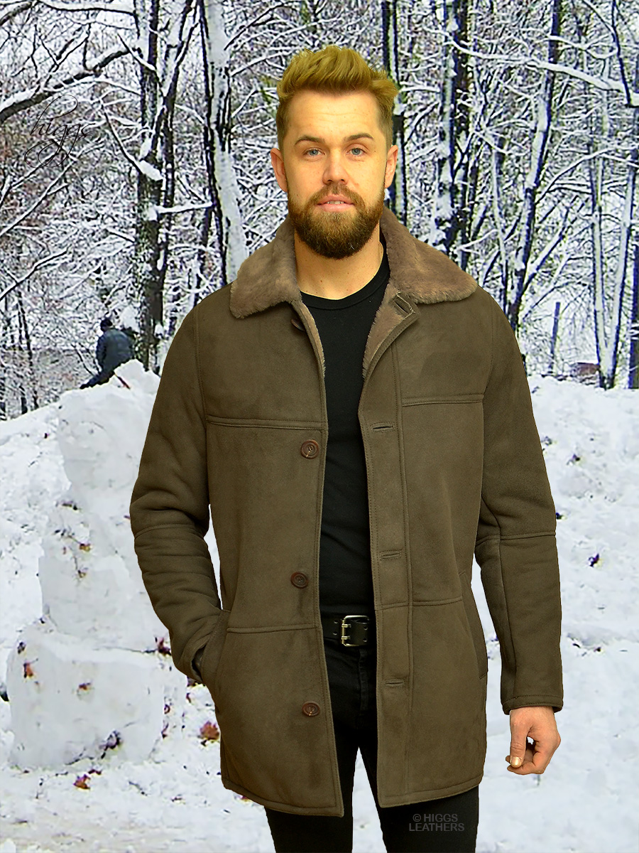 Higgs Leathers {NEW STOCK!}  Ben (3/4 length men's Shearling coats) NEW STOCK!