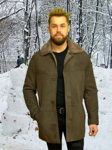 Higgs Leathers NEW STOCK!  Ben (3/4 length men's Shearling coats)