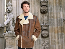 Higgs Leathers ALL SOLD!  Caesar (men's double breasted Shearling jackets)