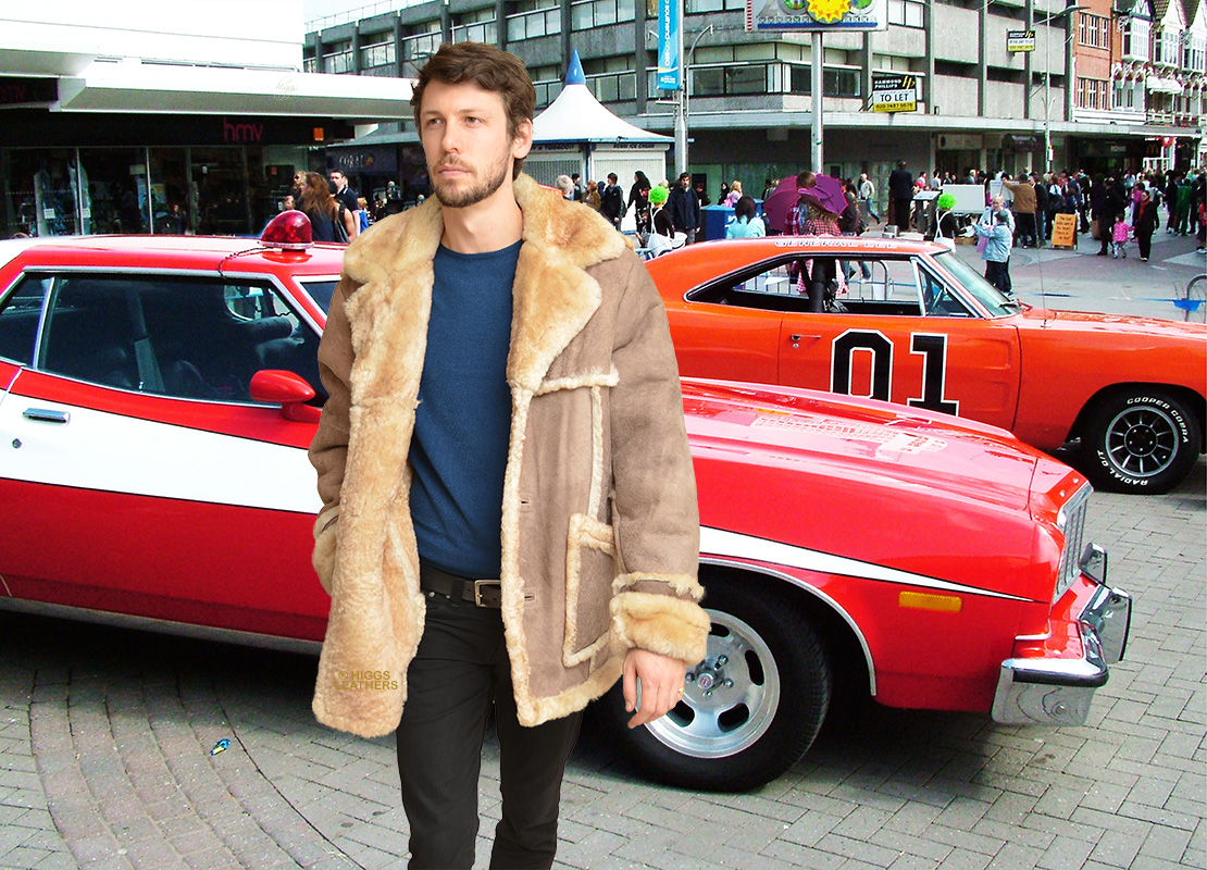 Higgs Leathers {}  Del Boy (Outback style Sheepskin coats for men)