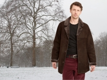 Higgs Leathers NEW STOCK!  Devon (Brown Shearling coats for men)