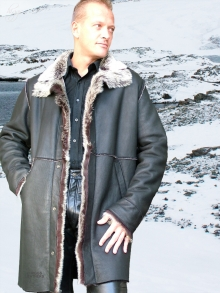 Higgs Leathers Gavin (Toscana trimmed men's Shearling coats)
